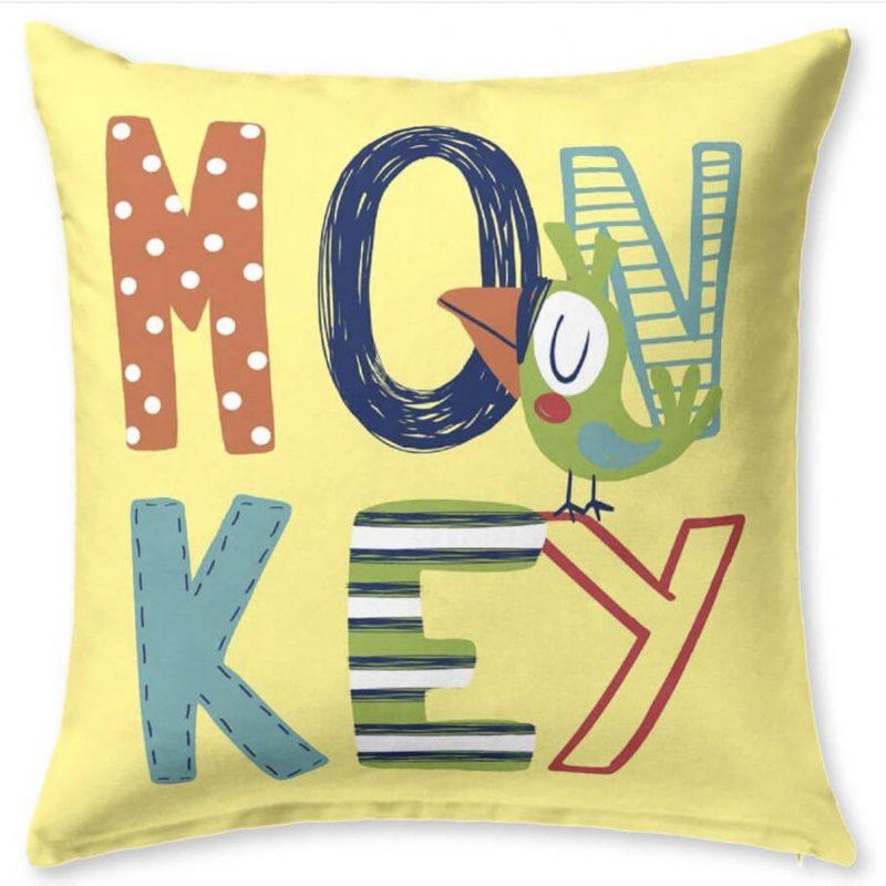 Funda de cojín Infantil Monkey de JVR Katarina Home