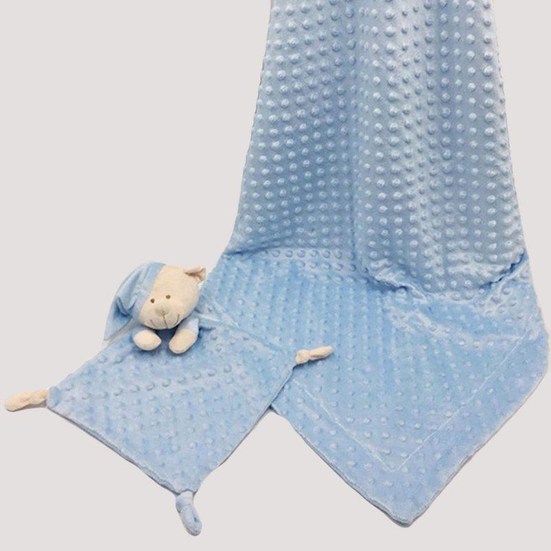 Dou Dou Osito y Manta Azul Luxe Doble Cara Katarina Home